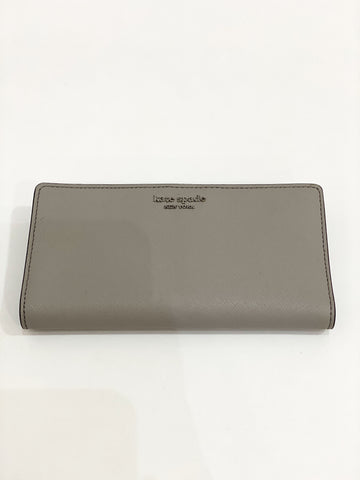 Kate Spade Cameron Large Slim Bifold In Grey