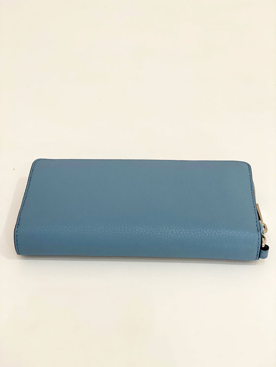 Michael Kors Large Travel Continental Wallet In Powder Blue