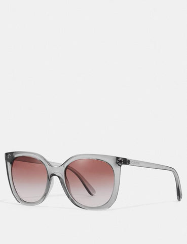 Coach Alexa Square Sunglasses In Transparent Gray