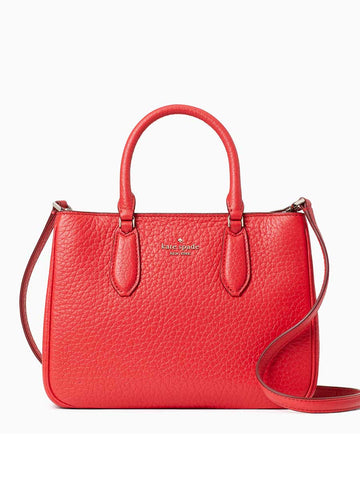 Kate Spade Leighton Small Satchel In Digital Red
