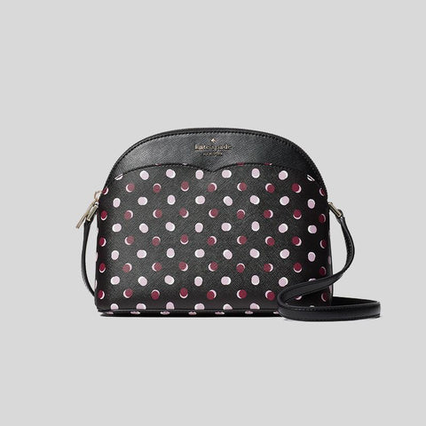 Kate Spade Payton Fiesta Dot Dome Crossbody Black Multi