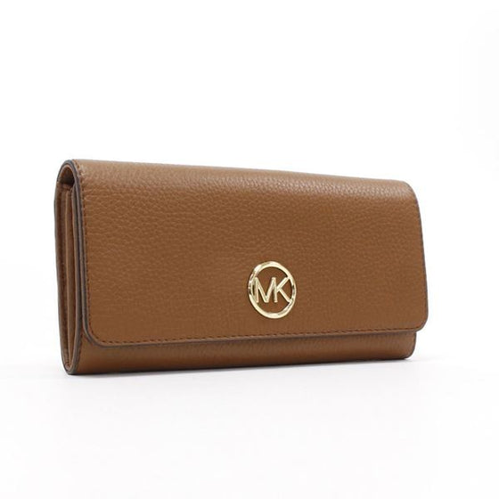 Michael Kors Fulton Flap Continental Wallet In Luggage