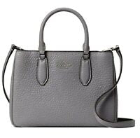 Kate Spade Leighton Small Satchel In Grey Cat