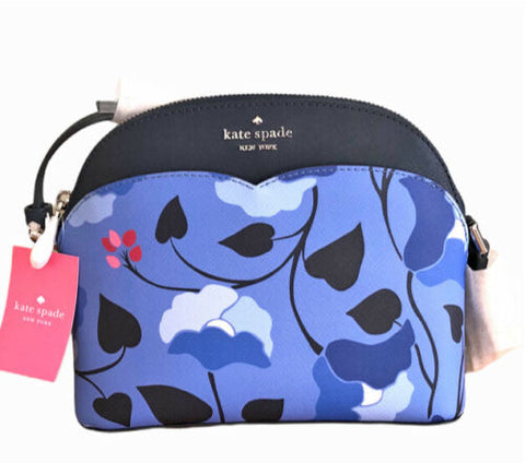 Kate Spade Payton Dome Crossbody Floral Blue Multi