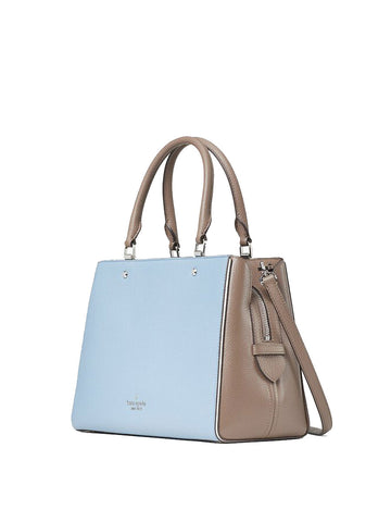 Kate Spade Leila Medium Triple Compartment Satchel In Baltic Sea Multi