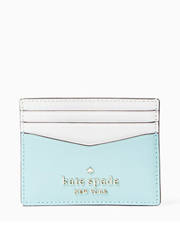 Kate Spade Small Slim Card Holder Staci Colorblock Poolside Multi