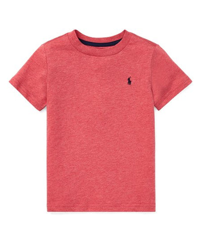 Polo Crewneck T Shirt In Salmon