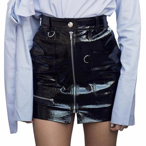 Selina Faux Leather Skirt