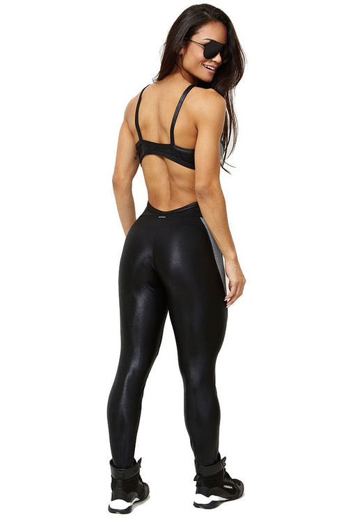 CANOAN Black Endurence Sexy Cirre Jumpsuit