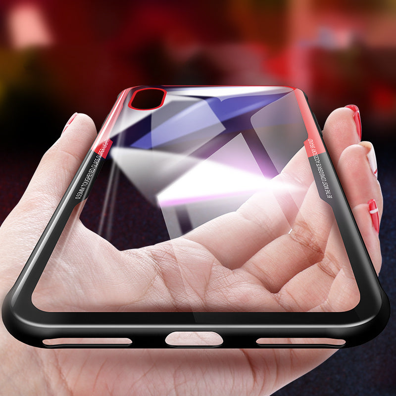 Luxury  Glass Back Case For IPhone 6 7 8 X