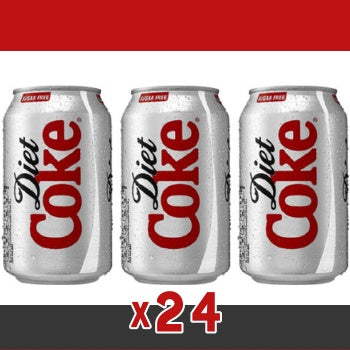 Click & Collect - Diet Coca Cola Cans 330ml (x24)