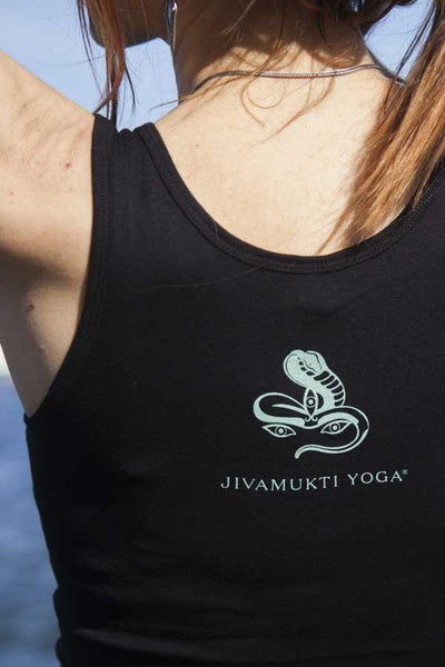 Womens Jivamukti Fitted Tank (Black)