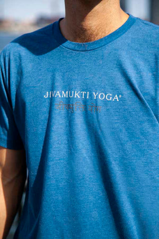 Mens Jivamukti Tshirt (Heather Cool Blue)