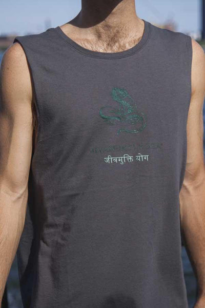 Mens Jivamukti Muscle Tank (Heavy Metal)