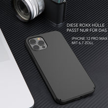ROXX Apple iPhone 12 Pro Max Slim Case | Hardcase mit Innenschutz & Displayschutz