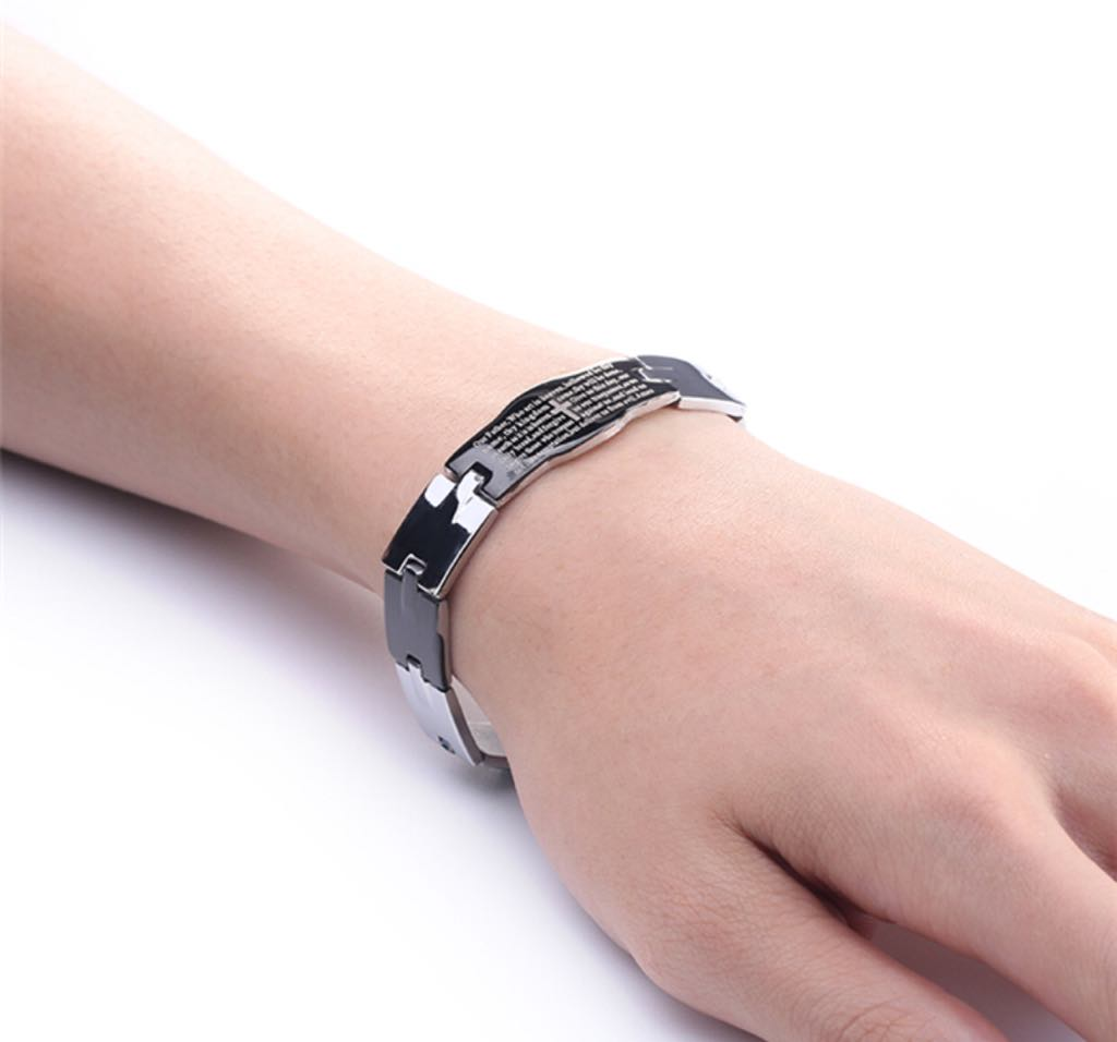 Jesus Bracelet with Cross and Our Father Prayer Fashionable ...