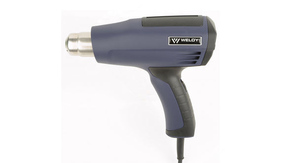 Weldy PIC Heat gun performs tasks like paint removal, cable shrinking, plastic welding, heating, packing pallets, automotive repair & other industrial applications.