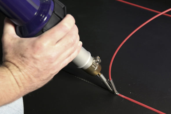 Weldy nozzle for vinyl flooring welding