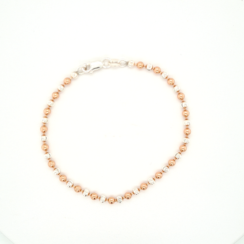 Rose Gold & Silver Small Bead Bracelet