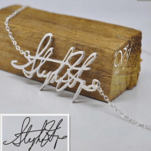 Custom Signature Nameplate