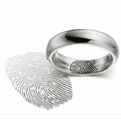 Fingerprint Wedding Ring