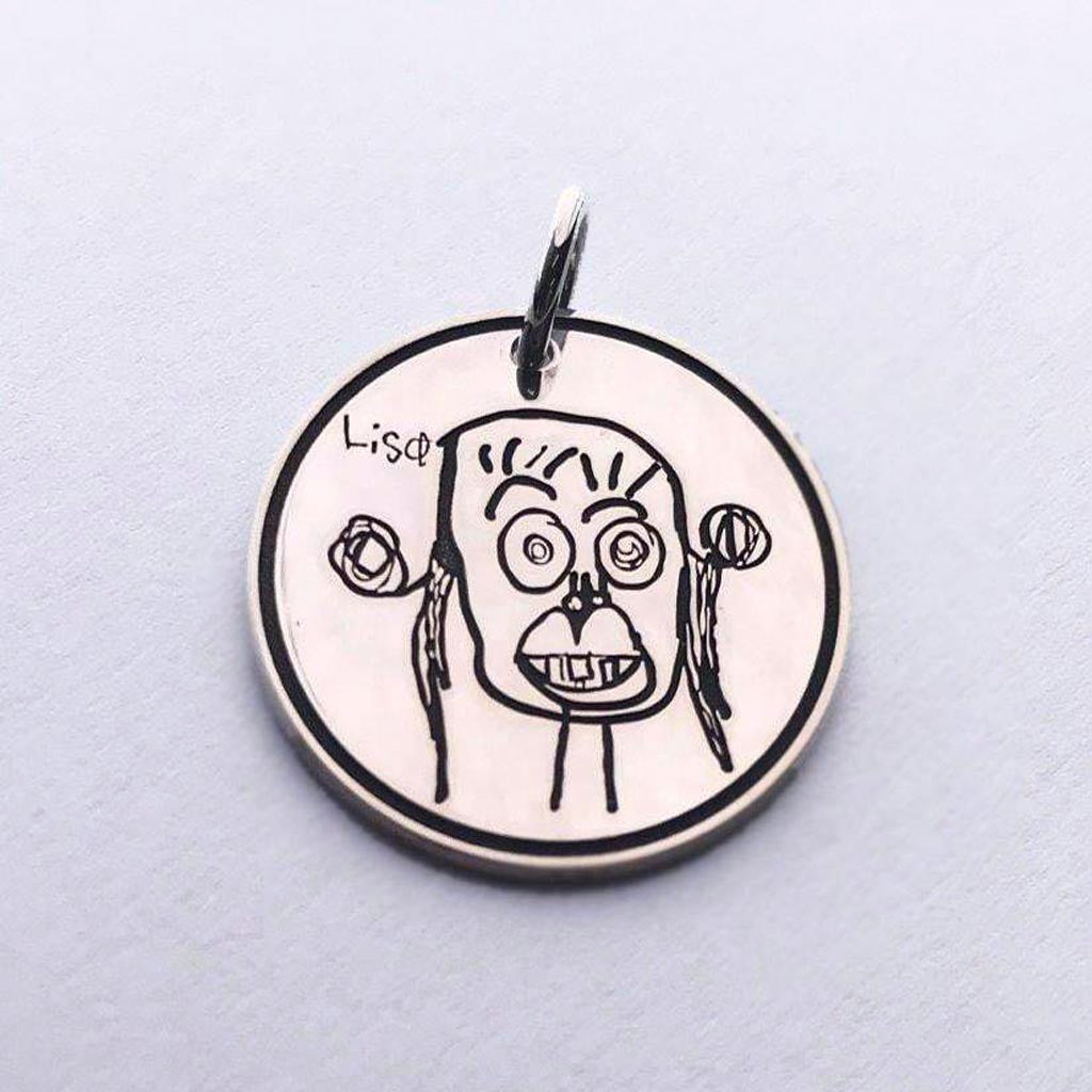 Kids Art Disc and Necklace