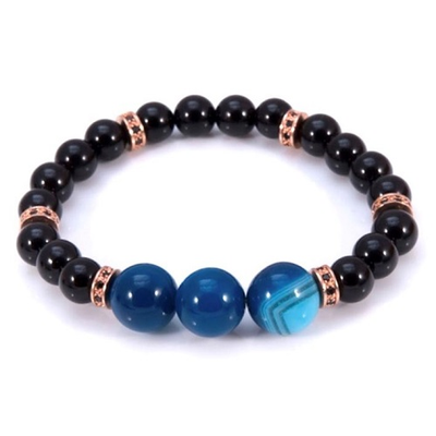 Agate And Onyx Aura Bracelet