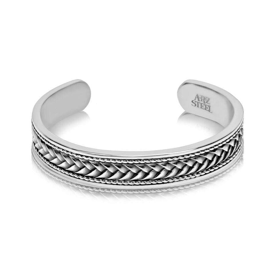 A.R.Z Steel - Braided Stanless Steel C Bangle