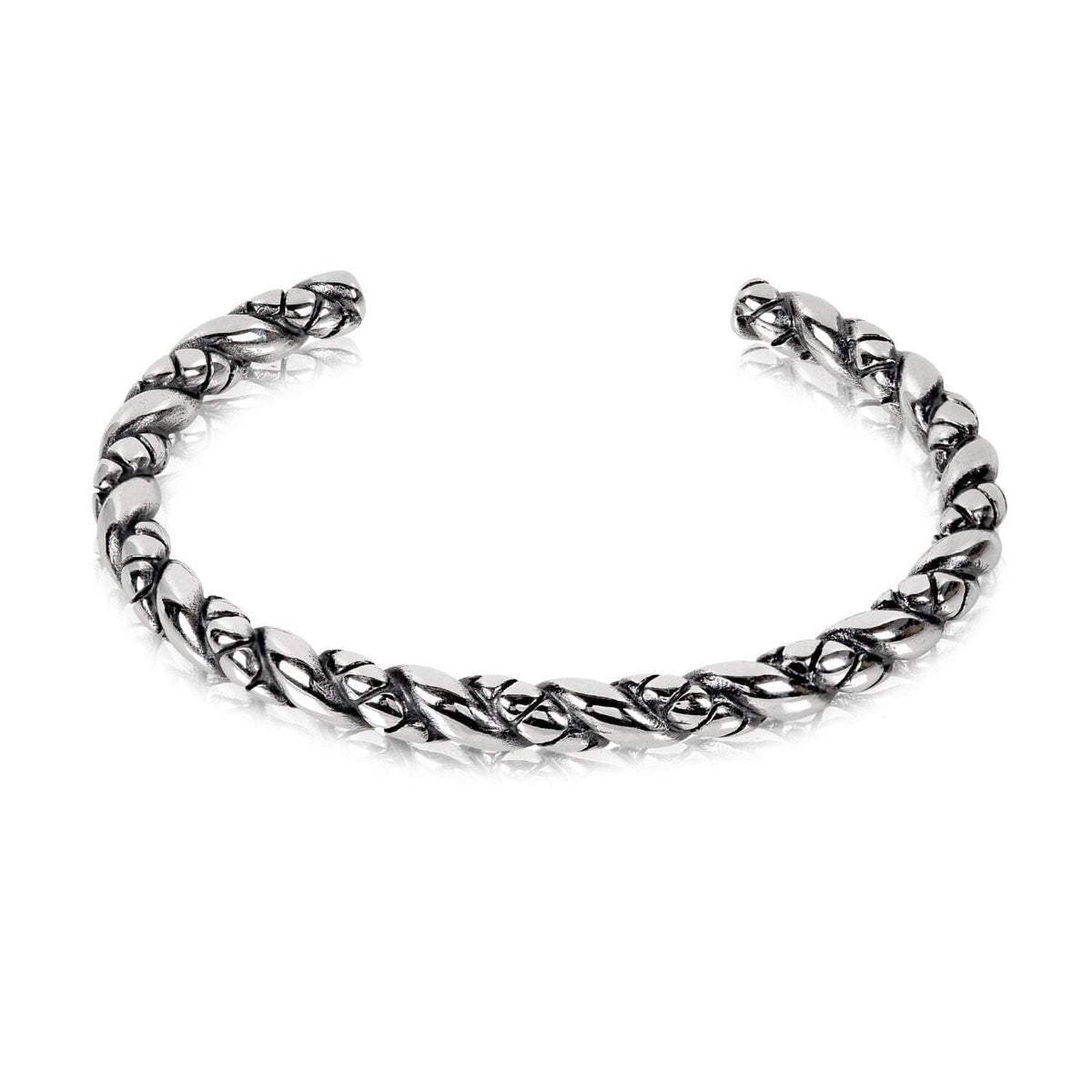 A.R.Z Steel - Twisted Oxidized Stainless Steel C Bangle