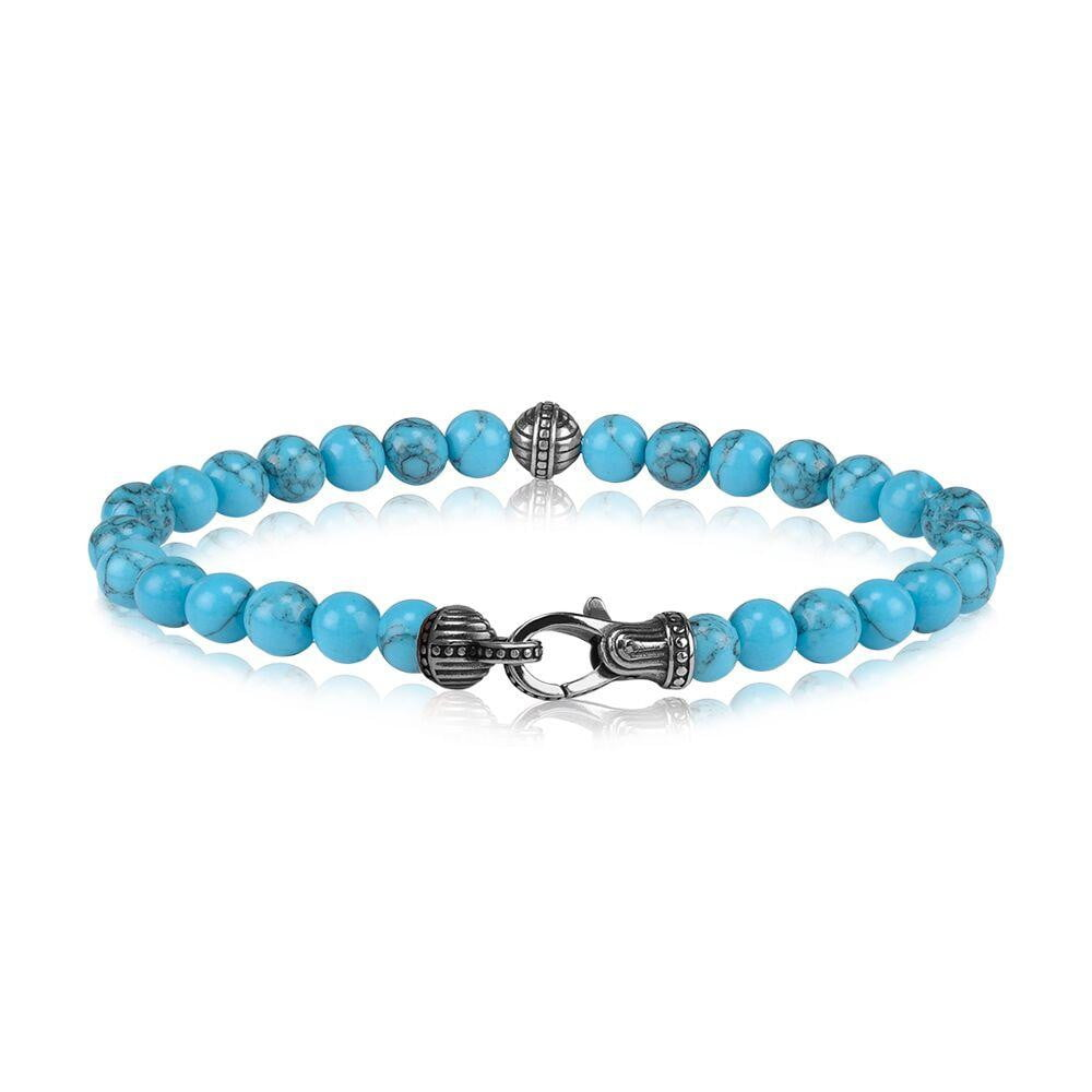 A.R.Z Steel - Turquoise Bead With Bracelet