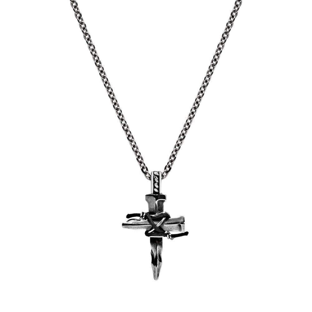A.R.Z Steel - Rock Cross Pendant Chain