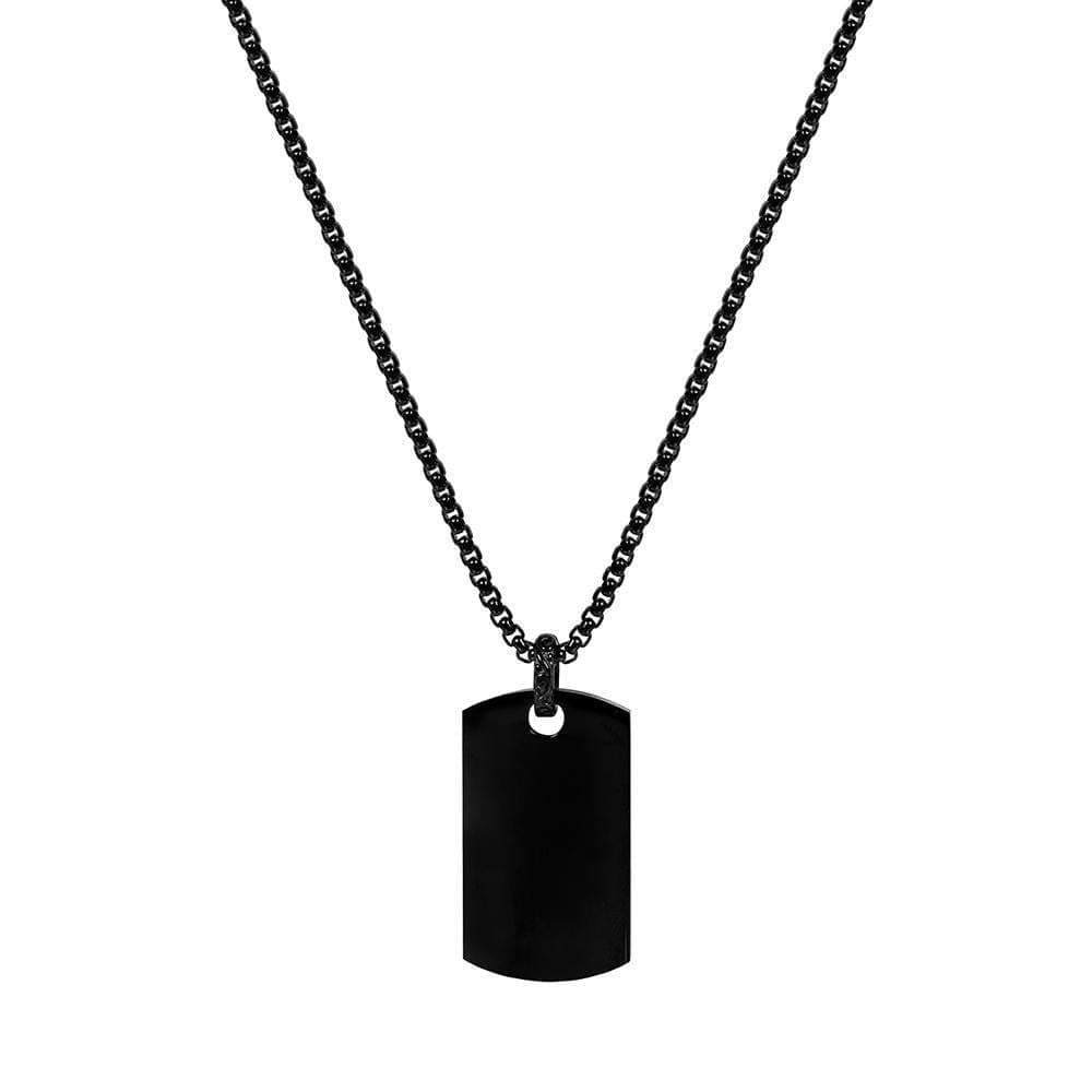 A.R.Z Steel -  Black Dog Tag Pendant