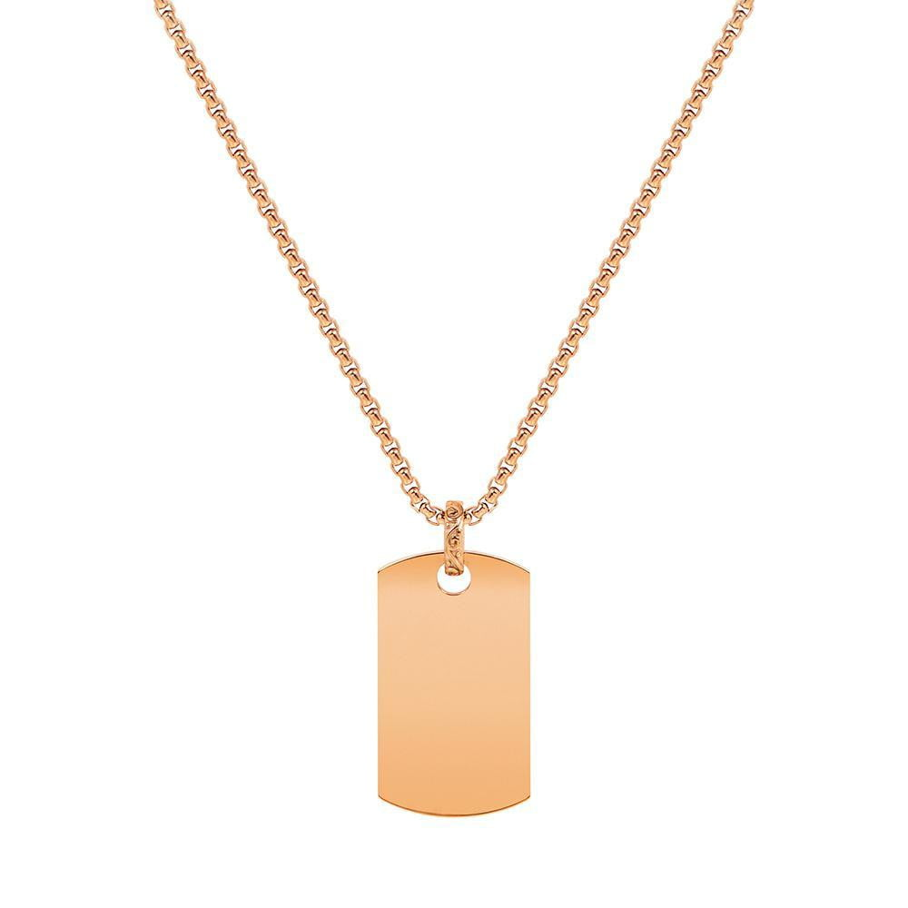 A.R.Z Steel - Rose Gold Dog Tag Pendant
