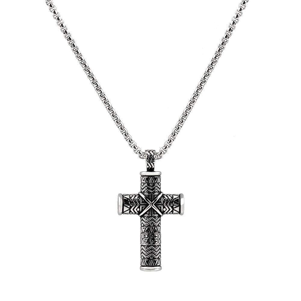 A.R.Z Steel - Cross T Carved for Ashes Pendant