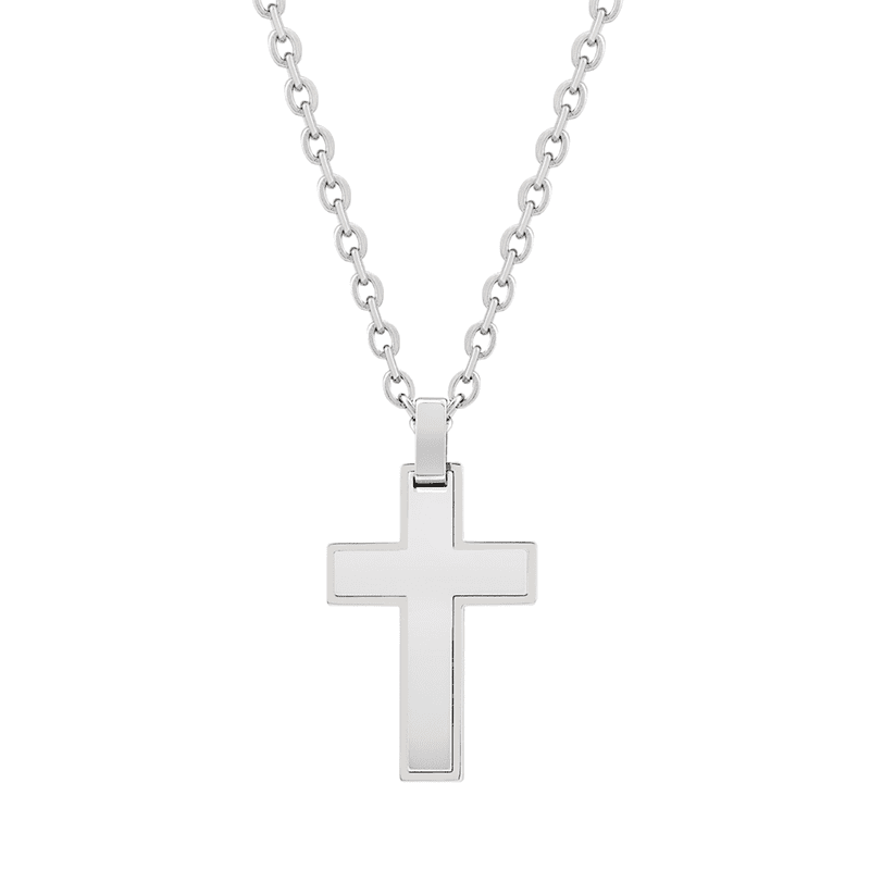 A.R.Z Steel - Cross Pendant All Steel And Chain
