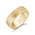 A.R.Z Steel - 8mm Matt Gold Steel 4 Lined Diamond Cut Edges Wedding Ring