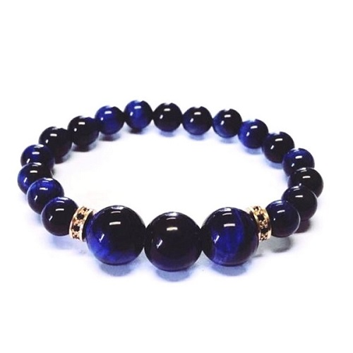 Rich Blue Tigers Eye Aura Bracelet