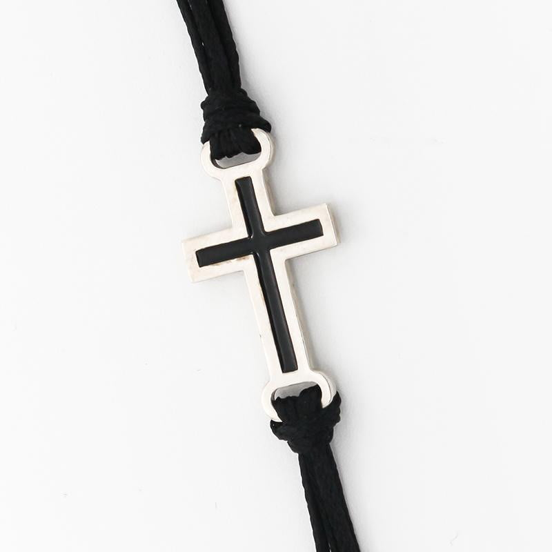 Cross Charm Wrap Bracelet