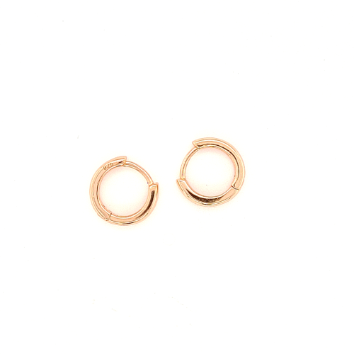 Small Rose Gold Huggies