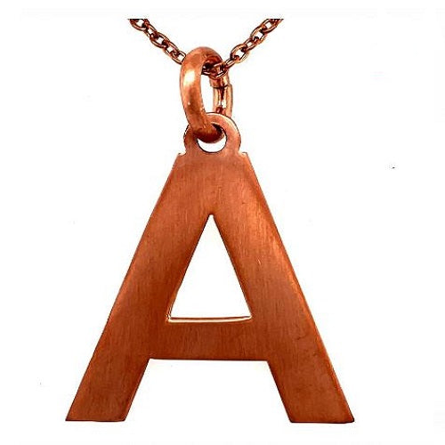 Rose gold ladies neckless first Letter of your name