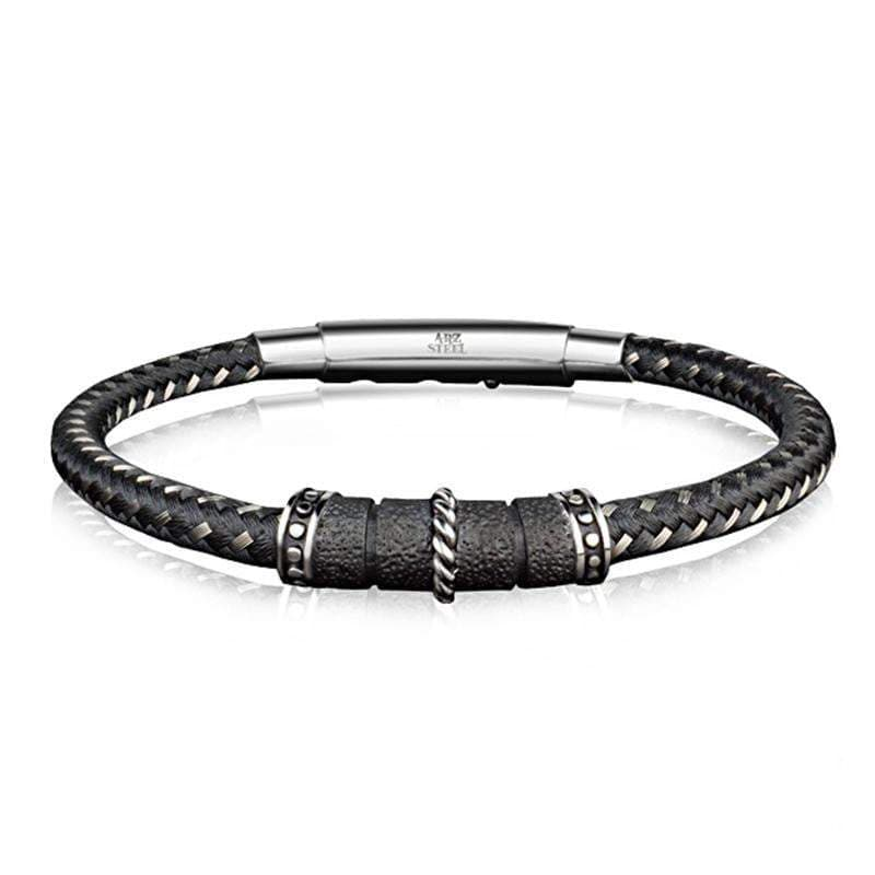 A.R.Z Steel - CABLE Fine Woven Two Colour Bracelet