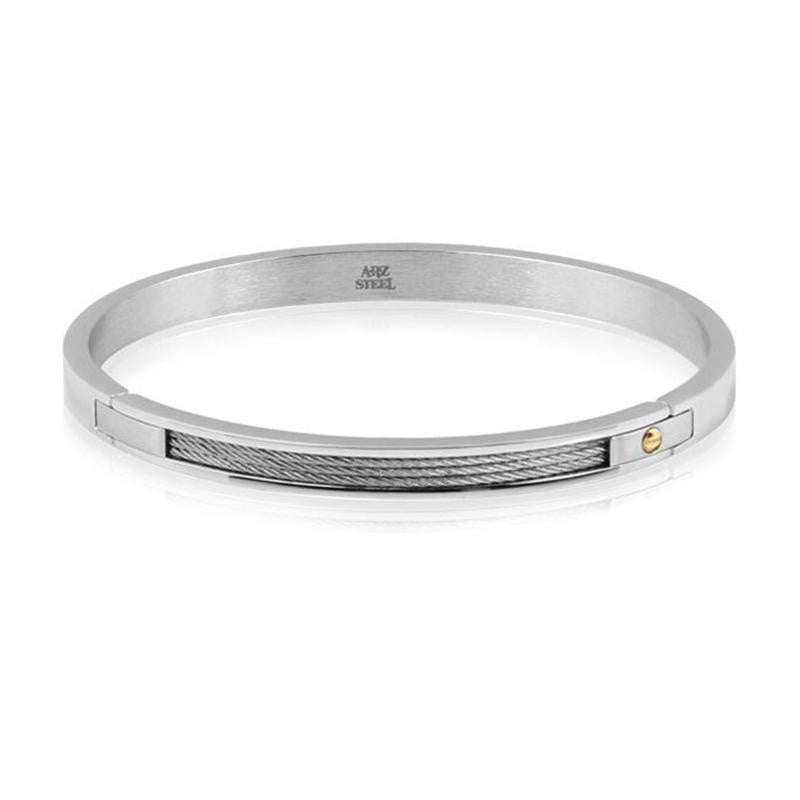 A.R.Z Steel - Hinge Clasp Design Bangle