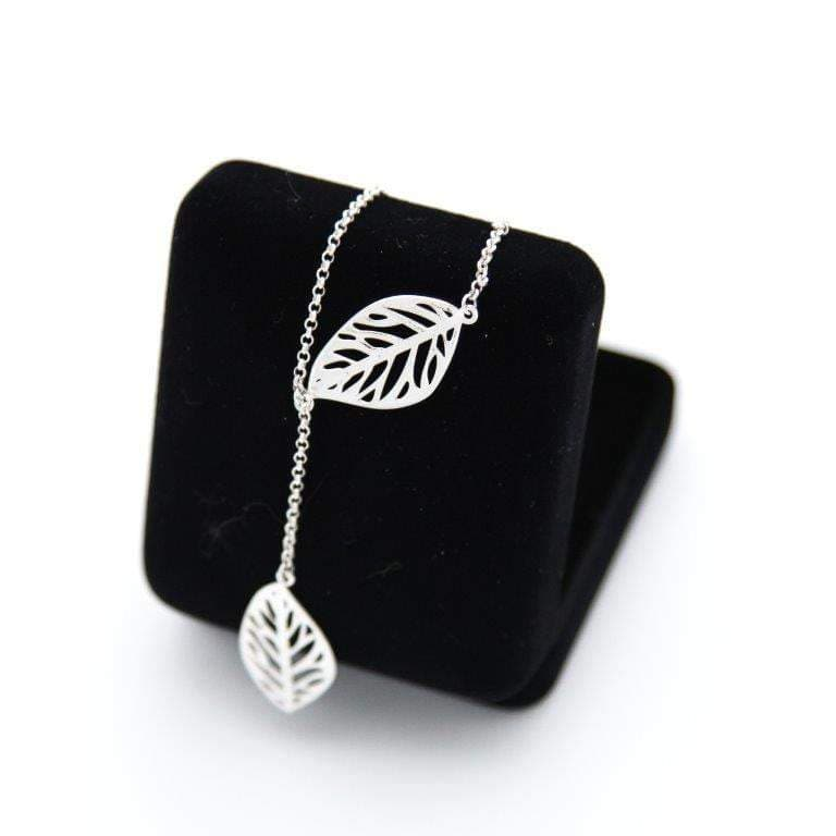 Double Filigree Leaf Chain