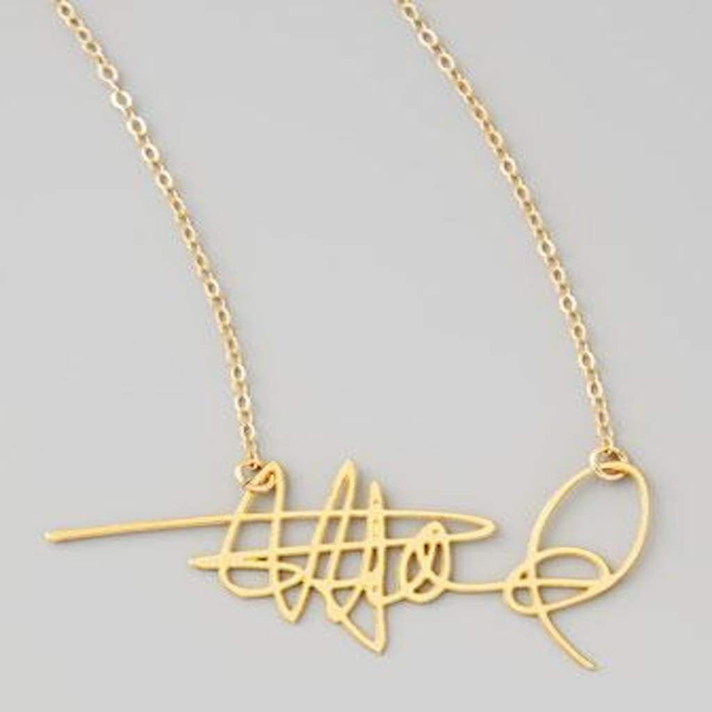 A Custom Signature Nameplate Necklace