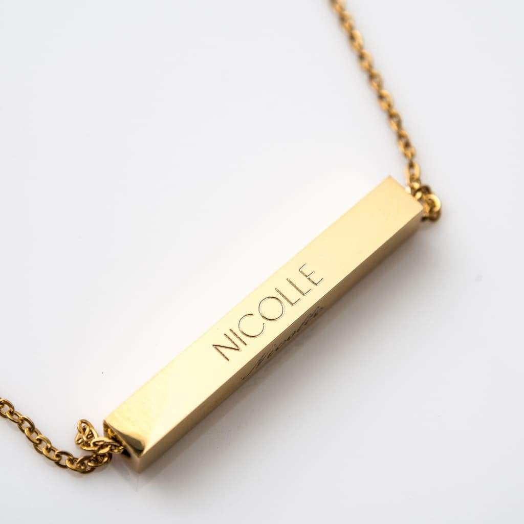 Bar Name Necklace Necklace