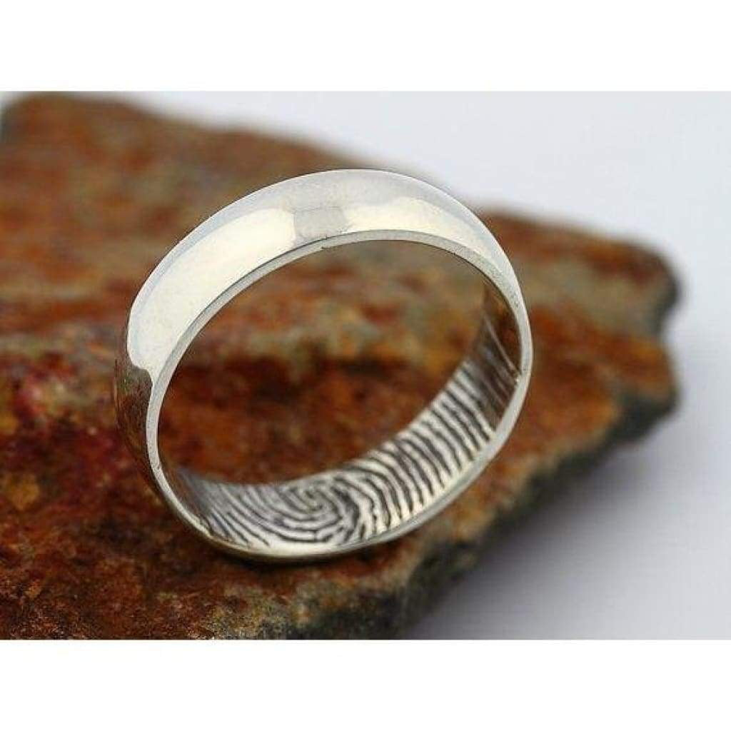 Fingerprint Band Wedding Ring A Bespoke Jewellery