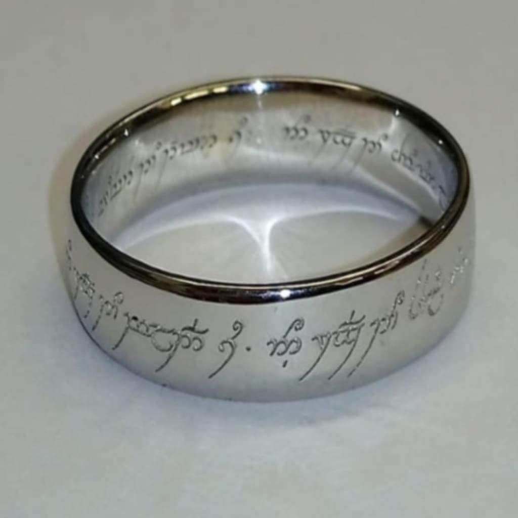 Lord Of The Ring Unisex In Silver Gents Rings