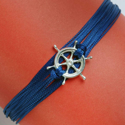 Nautical Wheel Charm Bracelet Bracelet