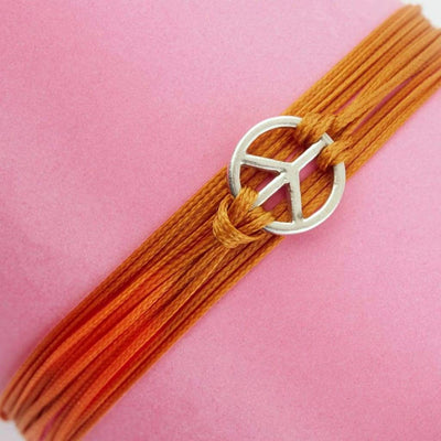Peace Sign Wrap Bracelet Bracelet