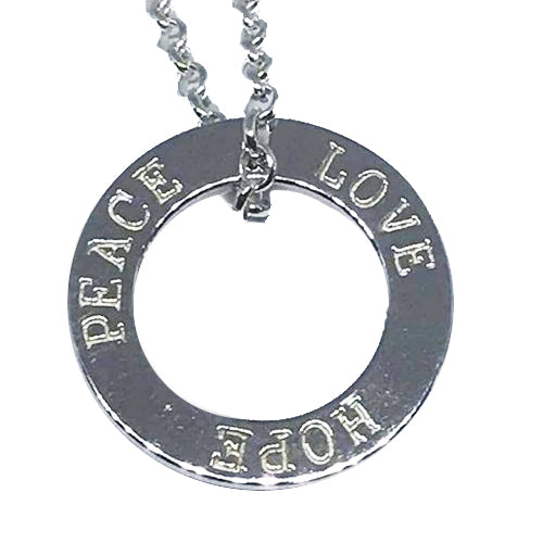 Silver Circle Pendant and Chain